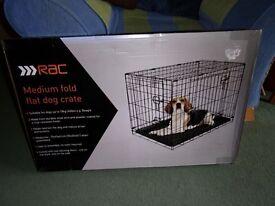 Medium fold flat dog crate ( RAC )