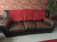 Brown Leather Recliner Sofas FREE