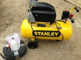 Stanley Air Compressor, with Air Tool Spray Kit FCDV 4 G 4 SCR 006