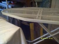 IRONING BOARD by BELDRAY , BRAND LEADERS , VERY LARGE TOP, IN MESH for STEAM IRONING