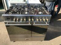 Stainless steel dual fuel range cooker (Kenwood)