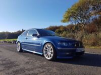BMW 325 ti Compact Blue metalic Exelent condition very low miles