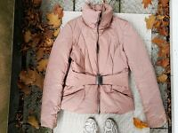 Powder pink puff jacket