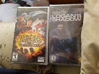 Psp with 4 games ... 1 used 3 still sealed
