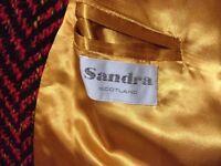 Woman's tweed jacket by Scottish designer Sandra Murray size 14 £50