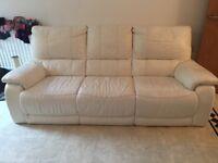 Italian cream 3 suit sofas!