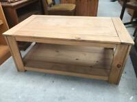 PROJECT Mexican pine coffee table FREE DELIVERY PLYMOUTH AREA