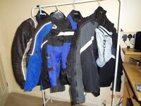 Assortment of mens and womens motorcycle gear to be sold as a job lot.