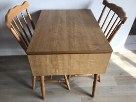 Dining Table and Two Chairs