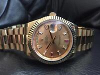 Rolex Daydate Yellow Gold/Diamond/Ruby Dial
