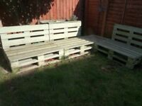 Pallet benches (x3)