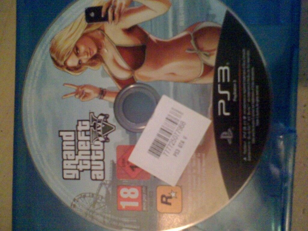 GTA 5 PS3 game (disc only)