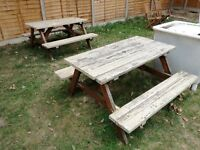 Garden Table (outdoor picnic party birthday) Local Delivery Available