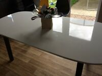 Ikea white gloss dining table
