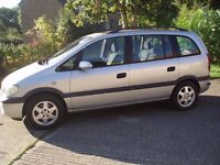 6 SEAT ZAFIRA VAUXHALL 1.8 SUPER PEOPLE CARRIER