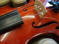 Beginners violin with case and accessories