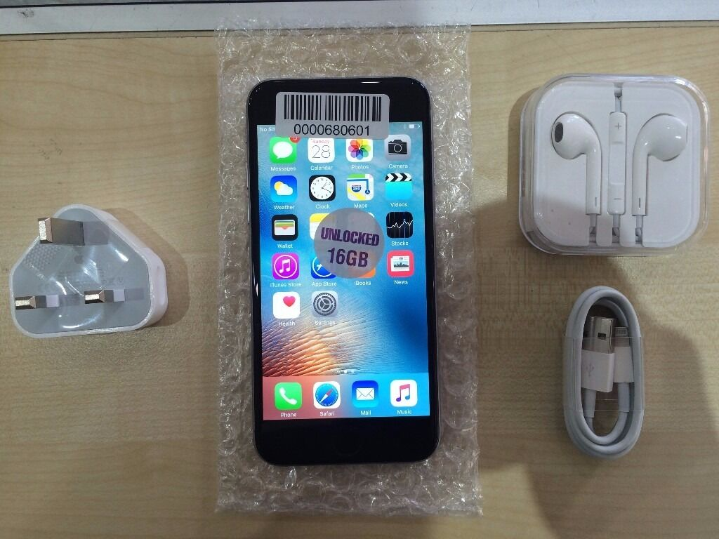 IPHONE 6 BLACK/ UNLOCKED16 GB/ VISIT MY SHOPGRADE B1 YEAR WARRANTYRECEIPTin Manor Park, LondonGumtree - IPHONE 6 BLACK unlocked and Grade B condition. This phone working perfectly and has the memory of 16 GB. Phones does have some scratches like on the body but its fuly tested so its working perfectly . COMES WITH 1 YEAR WARRANTY VISIT MY SHOP. 556...