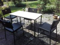 table with 4 x chairs