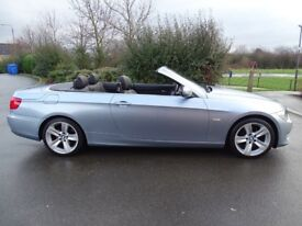 2011 61 BMW 320i SE 2.0 AUTO CONVERTIBLE FULL LEATHER F/S HISTORY ONLY 60K MILES