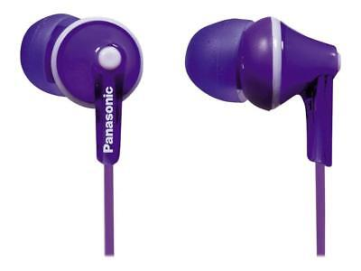 BRAND NEW Panasonic RP-HJE125-V ErgoFit In-Ear Earbuds PURPLE