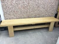 Large garden bench solid treated timber