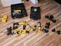 Dewalt 18v 14.4v 12v 7.2 Drill Reciprocating Saw Torch Complete Set