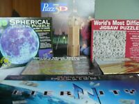 Collection of 6 assorted jigsaw puzzles