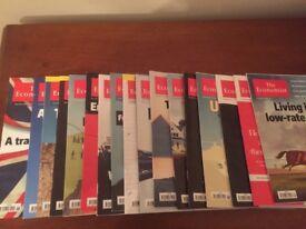 17 'The Economist' magazines