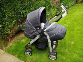 Silver Cross 3D pram and pushchair. Good used condition. Comes with comfy pushchair liner.