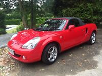 TOYOTA MR2 ROADSTER 1.8L RED 50,948 MILES - HARD AND SOFT TOP. WELL LOOKED AFTER, GREAT CONDITION