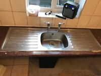 Stainless steel double drainer kitchen sink and taps!