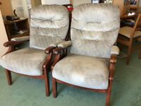 2 newly upholstered Fireside chairs