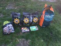 Bar-Be-Quick BBQ Charcoal Briquettes, Firelighters and Blow torch - Selling as moving