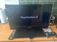 Sony ps2 PlayStation 2 Bravia tv with built in ps2