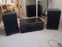 Hifi separates: Cambridge Audio amp, Technics cd player, Mordaunt Short speakers