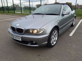 2004 (04) BMW 325i SE AUTO CONVERTIBLE MOT APRIL 2018 FACELIFT MODEL 2004-06 Immaculate Condition.