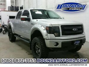 "2014 Ford F-150 4WD SuperCrew 145"" FX4 W/ LIFT KIT, WHEELS, ROOF"