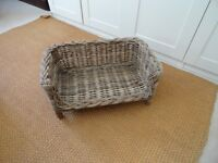 Chunky Wicker Pet Bed VGC