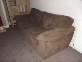 Harveys Mink Jumbo Cord Sofa and Love Seat