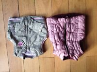 Baby Girls Body Warmers - Next and Mothercare - 9-12 months