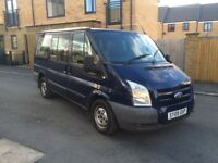 2009 09 ford transit 2.2 tdci minibus 9 seaters 6 speed 2 keys long mot CD player no vat bargain2495