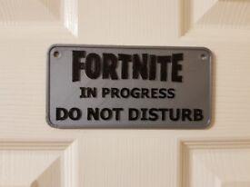 Fortnite door plaque