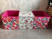 2 x IKEA Kallox storage boxes and drawers