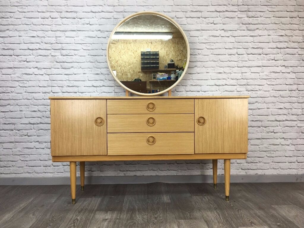 Schreiber Bedroom Furniture Retro Mid Century Schreiber Light Teak Dressing Table Danish