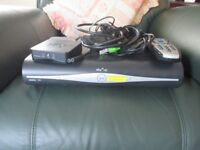 Sky+HD box, cables, wireless connector, remote control, etc