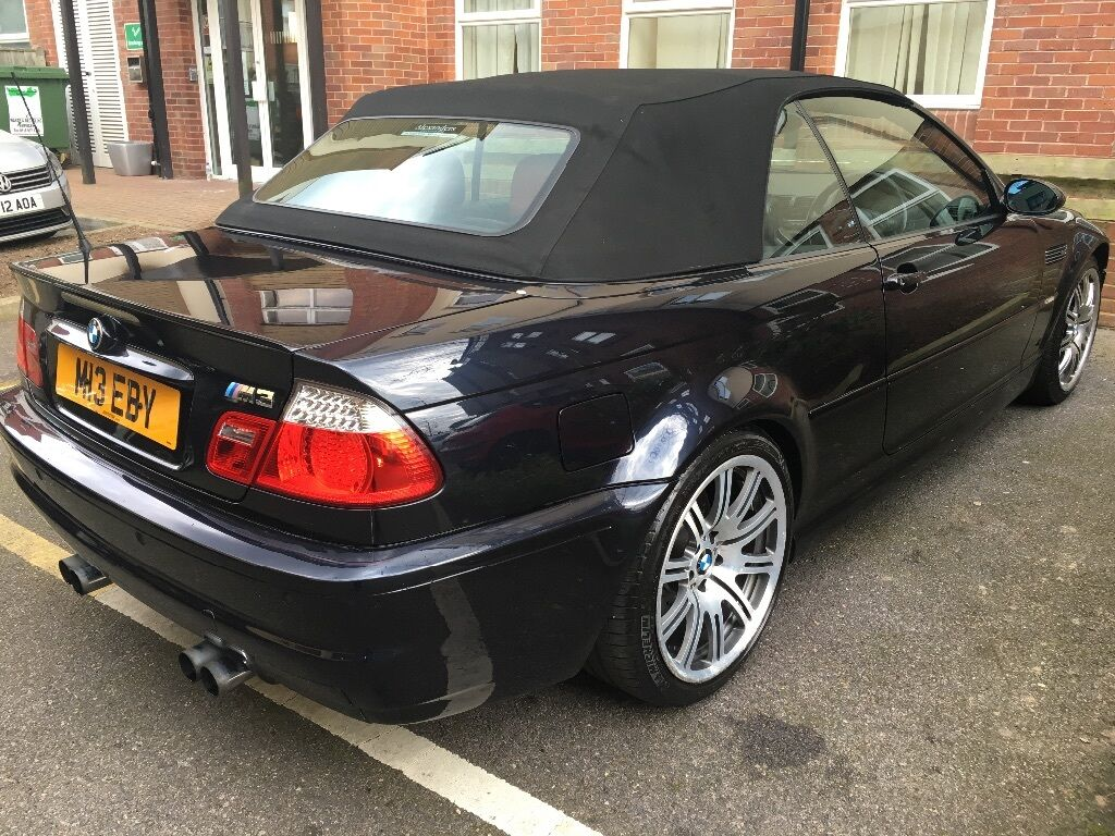 bmw e46 m3 convertible black with red leathers full