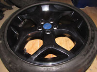"ford focus st mondeo transit connect 18"" alloy wheels with continental sport with 6mill tread"