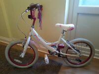 Pretty Girls Falcon Fairy Bike Pink and White Girl 6-8yrs