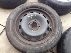 Ford fiesta spare wheel x2