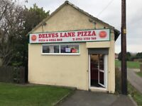 Hot Food Takeaway Pizza Shop Delves Lane Consett Durham Fully Equipped Business To Let ALL INCLUSIVE